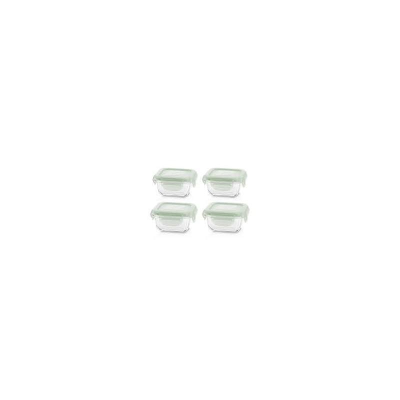 Conjunto 4 caixas vidro NaturSquare Verde - Miniland
