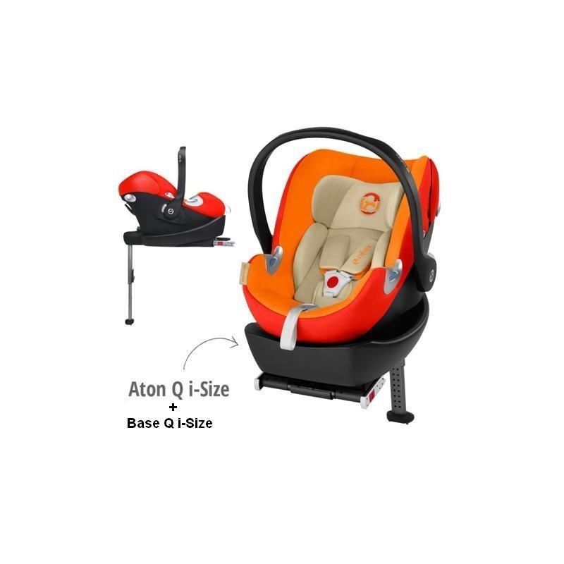 Conjunto Cadeira Auto Gr 0+ Aton Q I-Size Autumn Gold + Base Q I- Size Cybex Disponivél em 24 H