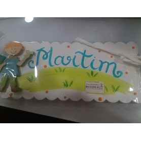 Placa Decorada com Nome - Martim