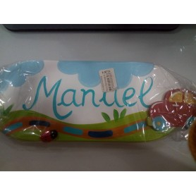 Placa Decorada com Nome - Manuel