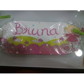 Placa Decorada com Nome - Margarida