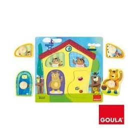 Puzzle Madeira Familia de Ursos 1-2 - Goula