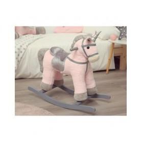 Unicornio cavalgavel com som Rosa - Kiokids