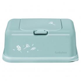 Funkybox Caixa grande para toalhitas Menta Flores