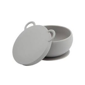Taça com Tampa em Silicone Cinza - Minikoioi