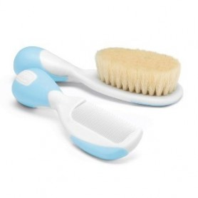Conjunto Pente e Escova Azul - Chicco