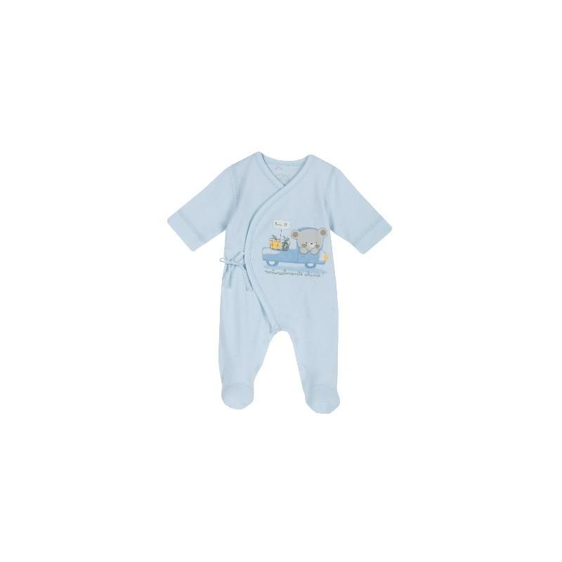 Babygrow Algodão Ursinho Azul 40cm - Chicco