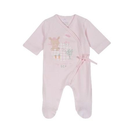 Babygrow Algodão Coelhinho Rosa 40cm - Chicco
