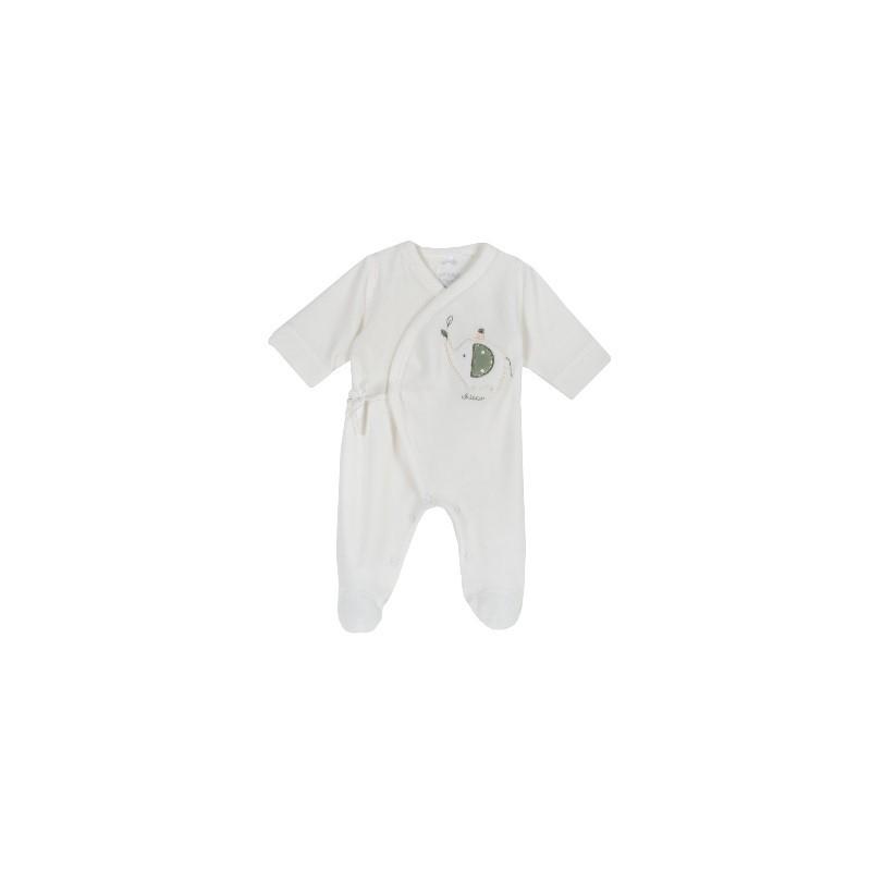 Babygrow Veludo Elefante Cru 40cm - Chicco