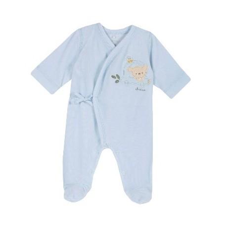 Babygrow Veludo Ursinho Azul 40cm - Chicco