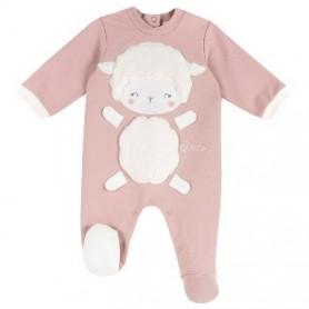 Babygrow Algodão Ovelhinha Rosa - Chicco