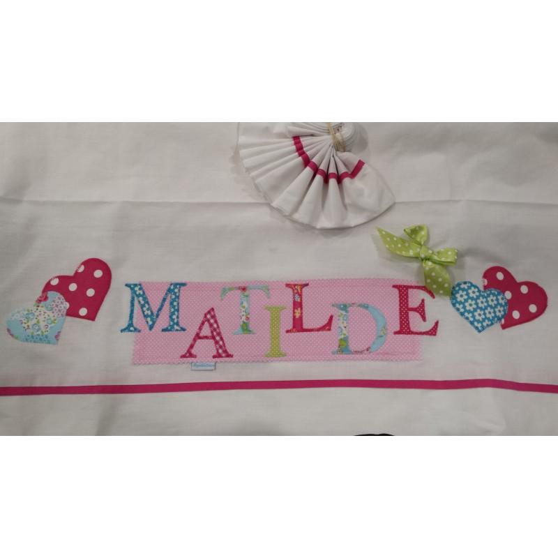 Conj.do lençois 120x60 bordado Matilde